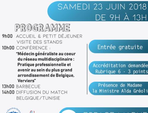 Le SAFPA sera présent lors du Samedi Santé le 23 juin 2018…